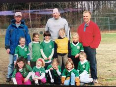 Loving being on a team with my father as a coach and playing with my best friends since day one.  (soccer)