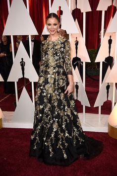 Georgina Chapman at the 2015 Academy Awards