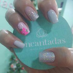 Cute Nails, Pretty Nails, Galvan, Gorgeous Nails, Gel Nails, Finger, Nail Designs, Hair Beauty, Make Up