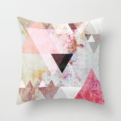 Graphic 3 Throw Pillow-maybe graphic pillows on a gray couch?