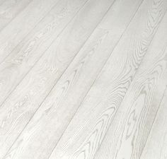 White hardwood floors -- bleached laminate flooring from Tarkett. I don't usually like laminate, but these are nice! White Wood Laminate Flooring, White Hardwood Floors, Vinyl Flooring Kitchen, Hardwood Floor Colors, Plywood Floors, Plywood Furniture, Furniture Design, White Flooring, Wood Architecture