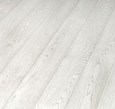 White hardwood floors -- bleached laminate flooring from Tarkett