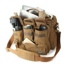 2c64de06cb EKPHERO Men Large Capacity Canvas Crossbody Computer Bag Outdoor Casual  Travel Tactical Bag is worth buying - NewChic Mobile. Shoulder Bags