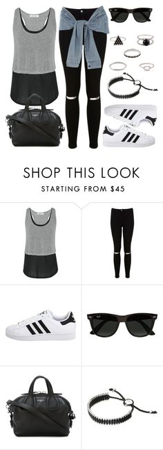 """""""[Style #11557]"""" by vany-alvarado ❤ liked on Polyvore featuring Elizabeth and James, Miss Selfridge, adidas Originals, River Island, Ray-Ban, Givenchy and Links of London"""