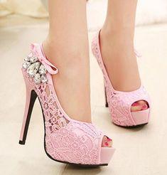 2015 new women shoes pumps sexy lace rhinestone mesh hollow open toe high  heels ladies fashion brand nude wedding platform shoes 536138662243