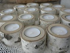 18  Individual White Birch tealites Candle by craftsbymerle, $54.00