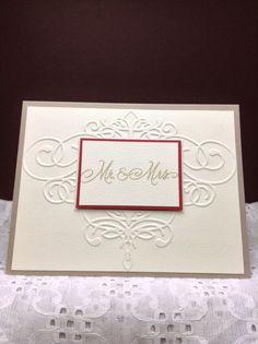 wedding card with double hearts handmade greeting card 4 50 via