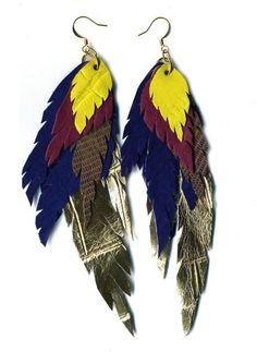 earrings of feathers my favourite