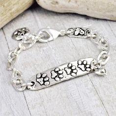 Love Has Paws Bracelet   #Dog #DogMonth #bracelet #jewelry #cowgirljewelry  http://www.islandcowgirl.com/