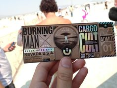 Burning Man has an awesome ticket design