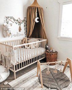17 ideas baby nursery in parents room cribs Boho Nursery, Nursery Room, Girl Nursery, Nursery Decor, Bedroom Decor, Floral Nursery, Project Nursery, Baby Room Boy, Baby Room Decor