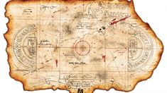 Goonies One-Eyed Willie's Pirate Treasure Map- x Movie Prop Print Pirate Treasure Maps, Pirate Maps, Pirate Theme, Story Map Template, Goonies Party, Free Stories, Short Stories, Watercolor Paper Texture, Movie Props