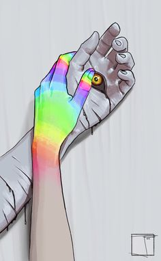 Holding Hands colorful art abstract animated neon trippy gifs gif