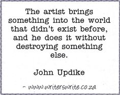 Quotable - John Updike - Writers Write Creative Blog