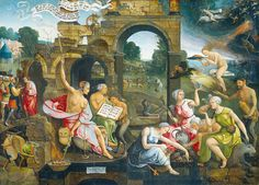 Abb-024A - Jacob Cornelisz van Oostsanen - Saul bei der Hexe von Endor 1c hr [1526] Amsterdam Rijksmuseum - resources21-kb-nl   por petrus.agricola