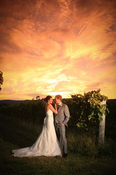 Bride and groom Breaux Vineyard... I wanna take a pic like this!