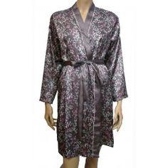 M&S Leaf Print Long Sleeve Satin Kimono. Sizes 8-18
