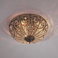 Vintage Crystal Ceiling Light