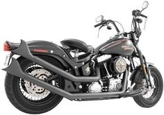 Freedom Performance Upsweeps Exhaust with Sharktail End Cap for Harley Davidson - One Size, Black