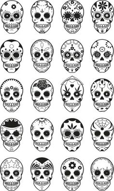 Skulls day of the dead