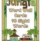 Jungle themed word wall cards for decorations in your jungle themed classroom.   Included are letter headings in giraffe and leopard print and 90 s...