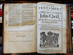 The 1669 Bible which was found among a stack of random books in Wahroonga.
