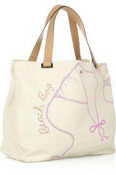 beach bag | Anya Hindmarch Beach Bag canvas tote5