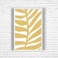 Tropical Leaf Art Print, Palm Leaf Print, Gold Decor, Large Art Print, Gold Wall Art, Palm Tree Decor, Tropical Decor, Wall Art Print by OjuDesign on Etsy https://www.etsy.com/uk/listing/273029478/tropical-leaf-art-print-palm-leaf-print