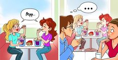 12 Hysterical Pictures That Show the Quirky Relationship Sisters Have Strong Feelings, Something About You, Feeling Loved, Growing Up, Sisters, Family Guy, Relationship, Illustration, Pictures