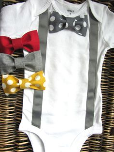Baby Boy Clothes First Easter Boy Suspender Bow por SewLovedBaby