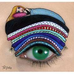This insomniac princess from Princess and the Pea.   21 Eye Makeup Looks Guaranteed To Make You Envious