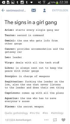 Girl Gang Astrology