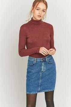 BDG Denim Pencil Skirt