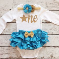 First Birthday/Blue and Gold/Star theme/Star is by BabyTrendzz