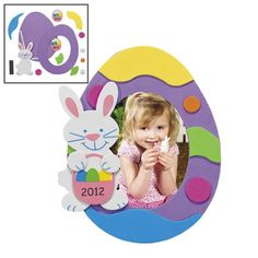 """""""2012"""" Easter Photo Frame Magnet Craft Kit! $7.25 from @Oriental Trading Company!"""