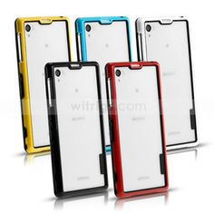 Sony Xperia Z1 phone case -Flexible Soft TPU Hybrid with PC Bumper Case for Sony Xperia Z1 - Witrigs.com