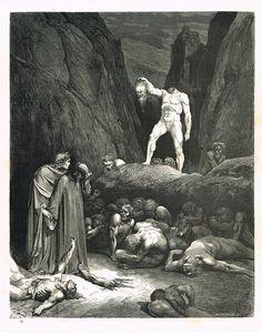 La Divine Comédie - L'enfer - illustration de Gustave Doré gravée par Monvoisin - planche 58