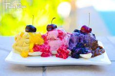 The FullyRaw Banana Ice Cream Split!