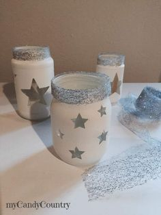 Creative Recycling: glasses decorated for Christmas candles home decor Christmas DIY . Christmas Mason Jars, Christmas Candles, Christmas Crafts, Christmas Decorations, Diy Bottle, Bottle Crafts, Mason Jar Crafts, Mason Jar Diy, Pine Scented Candle