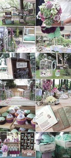 www.kamalion.com.mx - Boda / Wedding / Vintage / Rustic / Menta & Morado / Mint & Purple by marjorie