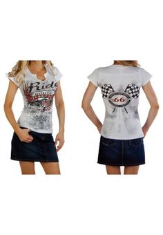 Camiseta route coche. Cowgirl Bling, Manga, Cowgirls, Cap Sleeves, V Neck, Shirt Dress, T Shirts For Women, Black And White, How To Wear