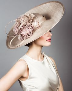 Fine straw hat with hand made flowers.