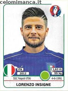 UEFA EURO 2016™ Official Sticker Album: Fronte Figurina n. 513 Lorenzo Insigne
