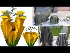Cement Crafts, Cement Flower Pots, Diy Concrete Planters, Cement Art, Clay Pot Crafts, Concrete Art, Concrete Garden, Diy Home Crafts, Clay Wall Art