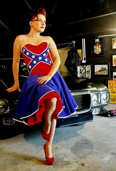 Great Rebel Pride Corset And Skirt, Needs Regular American Flag Clothes