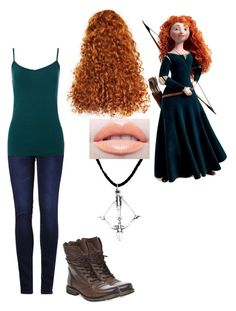 """""""modern day princess merida"""" by laughing-jack5 ❤ liked on Polyvore featuring 2LUV, Steve Madden and modern"""