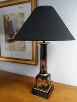 Hand-Painted Column Lamp Base
