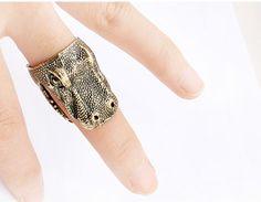 Dinosaur Statement Ring from LilyFair Jewelry.