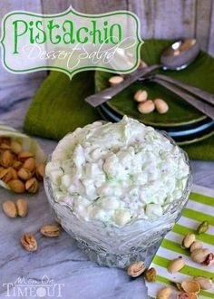 Pistachio Dessert Salad or Pistachio Fluff - whatever you choose to call it - it's delicious! | MomOnTimeout.com