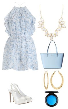 """""""playsuit streak"""" by gabrielle-eugenio on Polyvore featuring Zimmermann, Charlotte Russe, Kate Spade, Fragments, MAC Cosmetics and Fratelli Karida"""